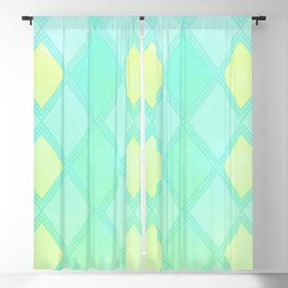 Checkered Mint Blackout Curtain