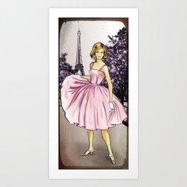 Pretty In Pink In Paris Art Print