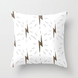 Lightning Never Strikes Twice! Throw Pillow
