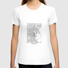 Boston White Map T-Shirt