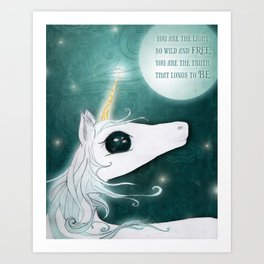 The Last Unicorn Art Print