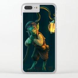 Lantern Goblin (#Drawlloween2016 Series) Clear iPhone Case