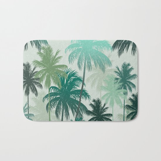 Summer Palm trees Bath Mat