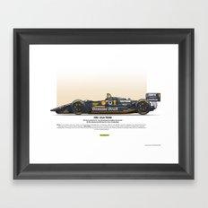#1 LOLA - 1993 - T9300 - Rahal Framed Art Print