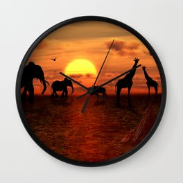 Savanne 2 Wall Clock