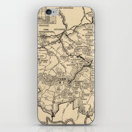 Vintage Great Smoky Mountains National Park Map (1941) iPhone Skin