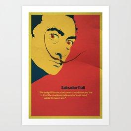 Salvador Dali quote Art Print