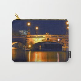 Nocturnal Lights on the river Spree in Berlin Carry-All Pouch