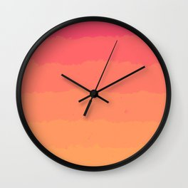 Sunset Cloud Layers Wall Clock