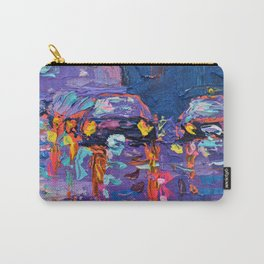 Streets of New York #3 - Palette Knife Contemporary Urban City Landscape by Adriana Dziuba Carry-All Pouch