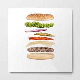 Perfection Hamburger Metal Print
