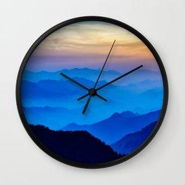 Nepal Sunrise Mountains Wall Clock