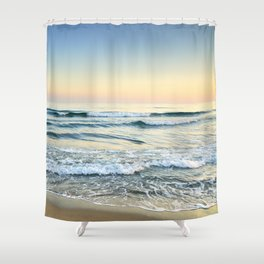 Serenity sea. Vintage. Square format Shower Curtain