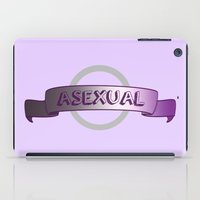 asexual iPad Cases featuring Asexuality Pride by discojellyfish