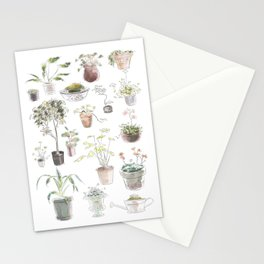 Plant design 5 Stationery Cards
