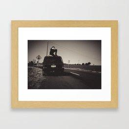 On yer truck Framed Art Print