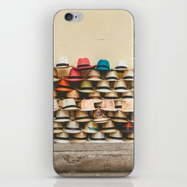 Panama Hats in Cartagena, Colombia iPhone Skin