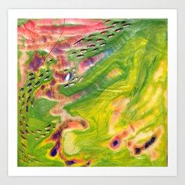 Wax #6 Art Print