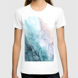 Beachy Pastel Flowing Ombre Abstract T-shirt