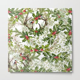 Holly Collage Metal Print