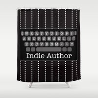 indie Shower Curtains featuring I'm An Indie Author by M.Bucklew