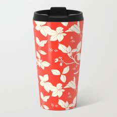 Drawings from Stonecrop Garden, Pattern in Red Metal Travel Mug