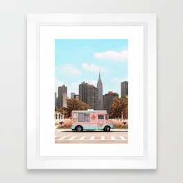 New York Ice Cream Framed Art Print