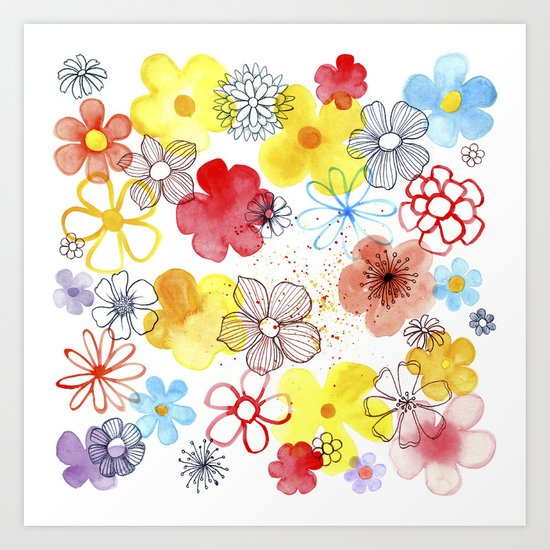 Summergarden Art Print