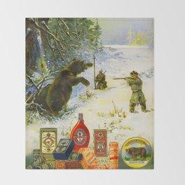 Vintage Russian Gunpowder Advertisement Throw Blanket