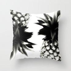 Black Pineapple Throw Pillow