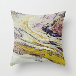 Planet of reptiles, abstract, acrylic on canvas Throw Pillow