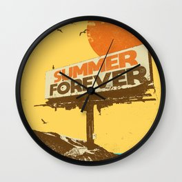 SUMMER FOREVER Wall Clock