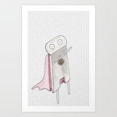 Robot superhero II Art Print