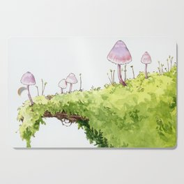 Mushrooms and Moss Cutting Board