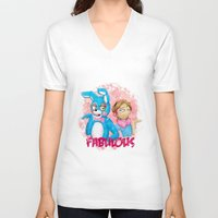 pewdiepie V-neck T-shirts featuring fabulous! by Maria Daregin