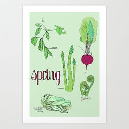 Fresh from the Farmers Market: Spring Art Print