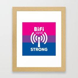 BiFi Signal Strong Framed Art Print