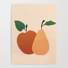 An Apple and a Pear Poster