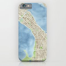 City Map Madison Wisconsin watercolor  iPhone 6s Slim Case