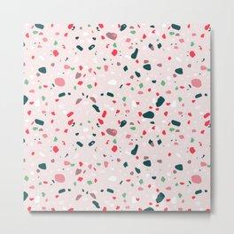 Terrazzo Trending Pattern - Cherry Metal Print