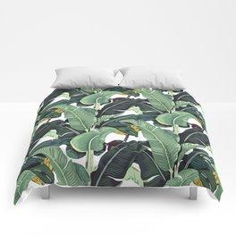 banana leaf pattern Comforters