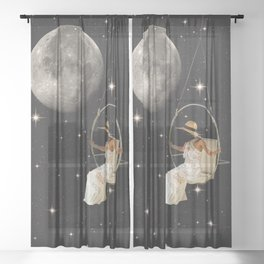 Hanging In Space Sheer Curtain