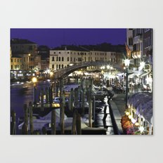 Night-time in Venice Canvas Print
