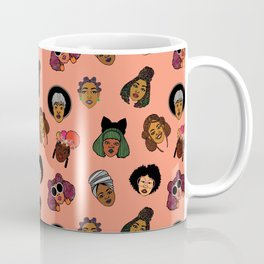 Black Hair Magic (Coral) Coffee Mug