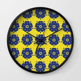 Japanese Samurai flower Wall Clock