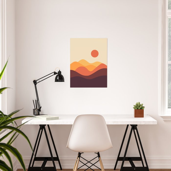 Geometric Landscape 21 Poster