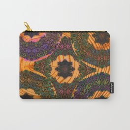Embroidery on Wood Trippy Texture Carry-All Pouch
