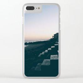 Sun Set Silhouette Clear iPhone Case
