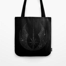 Jedi Order in Stars on Black Tote Bag