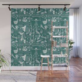 Da Vinci's Anatomy Sketchbook // Genoa Green Wall Mural